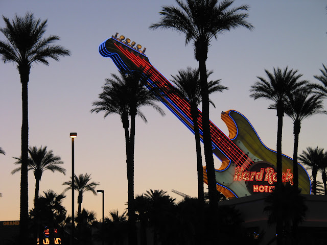 Hard Rock Hotel Las Vegas Neon Fender Stratocaster Guitar Sign