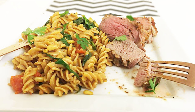 Red Tractor Lamb Mini Roast with Red Pesto Pasta