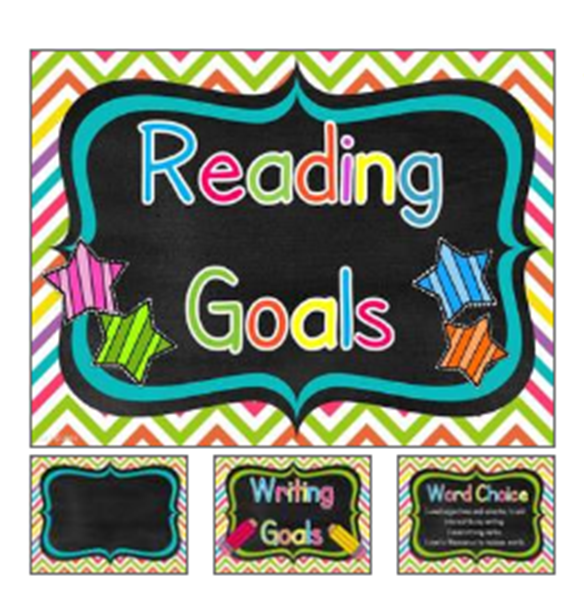 http://www.teacherspayteachers.com/Product/Reading-Writing-Goals-Chart-with-Editable-Pages-Bundle-790779