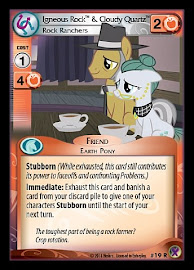 My Little Pony Igneous Rock & Cloudy Quartz Marks in Time CCG Card