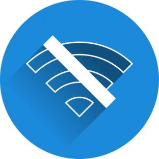 No signal no connection icon broadband internet
