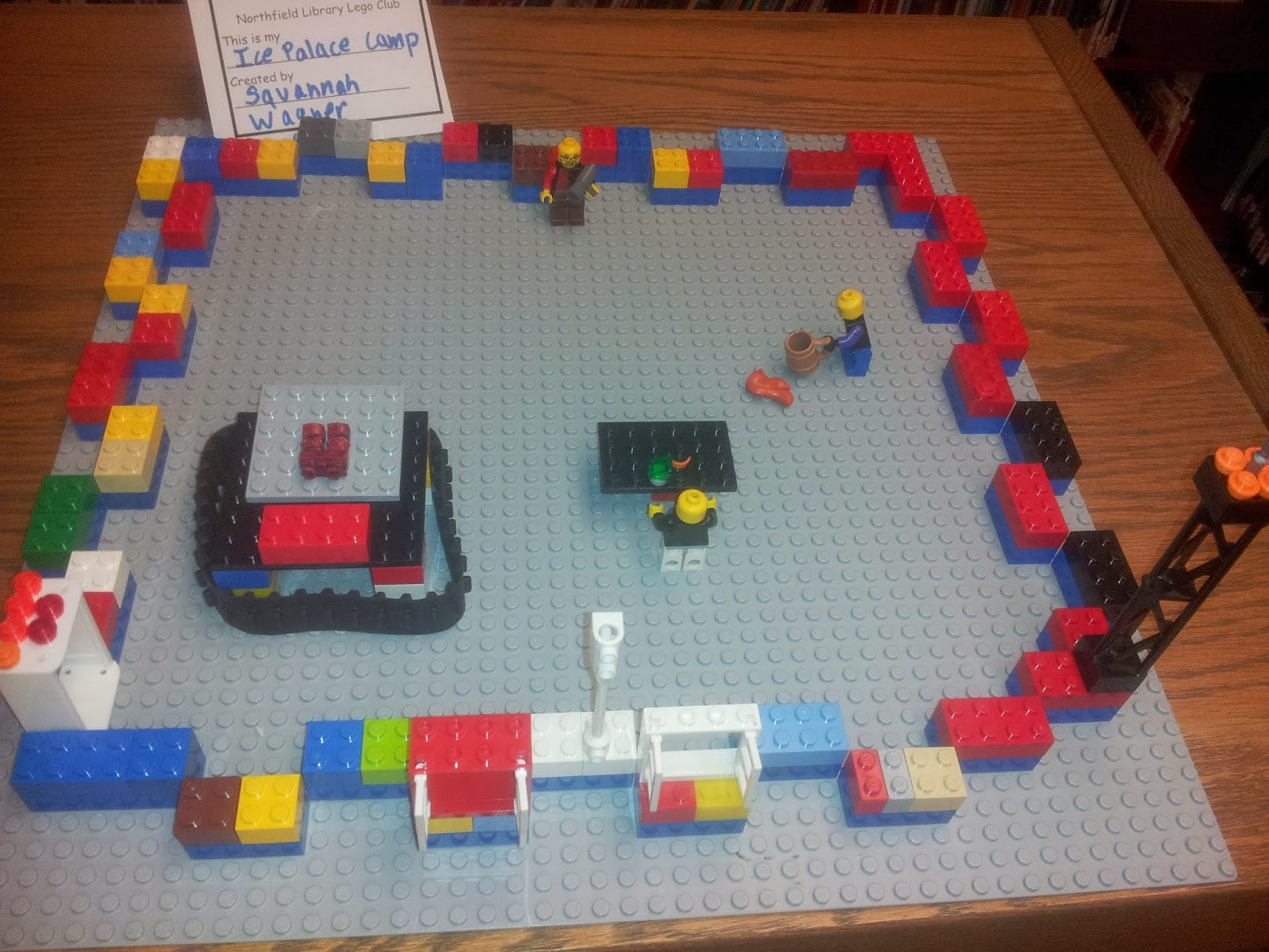 northfield public library lego snow forts