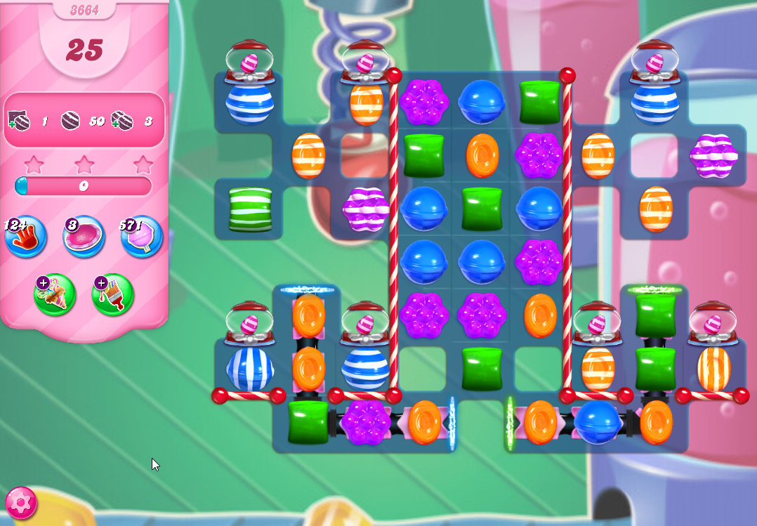 Candy Crush Saga level 3664