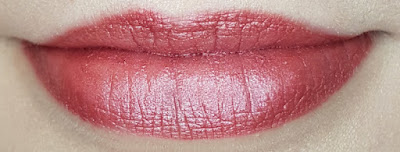 Avon True Luminous Velvet Lipstick swatch in Glistening Mulberry