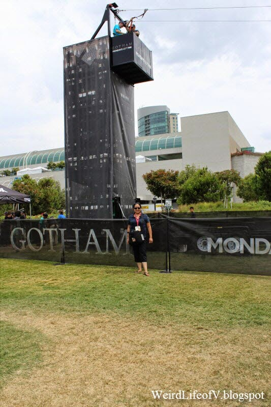 The Gotham zip line - Outside San Diego Comic Con 2014