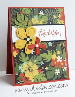 Stampin' Up! Botanical Gardens + Sassy Salutation Thank You Card #stampinup 2016 Occasions Catalog www.juliedavison.com #GDP033