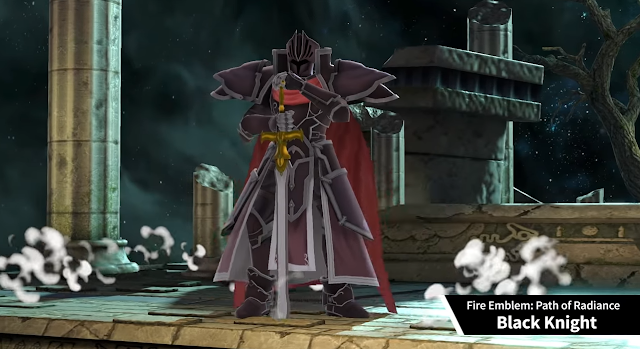 Super Smash Bros. Ultimate Black Knight Assist Trophy Fire Emblem: Path of Radiance pose sword down