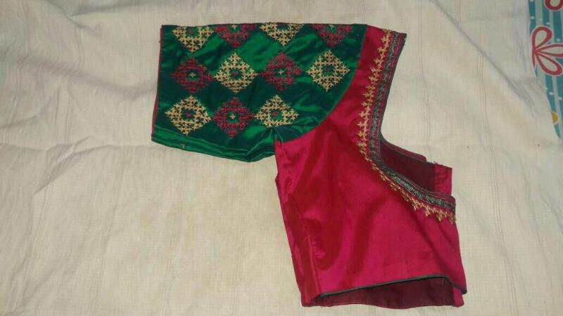 Beautiful kutch work embroidery blouse designs online