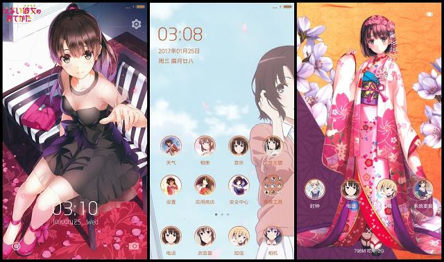 Tema Xiaomi Anime Saenai Heroine No Sodatekata V2