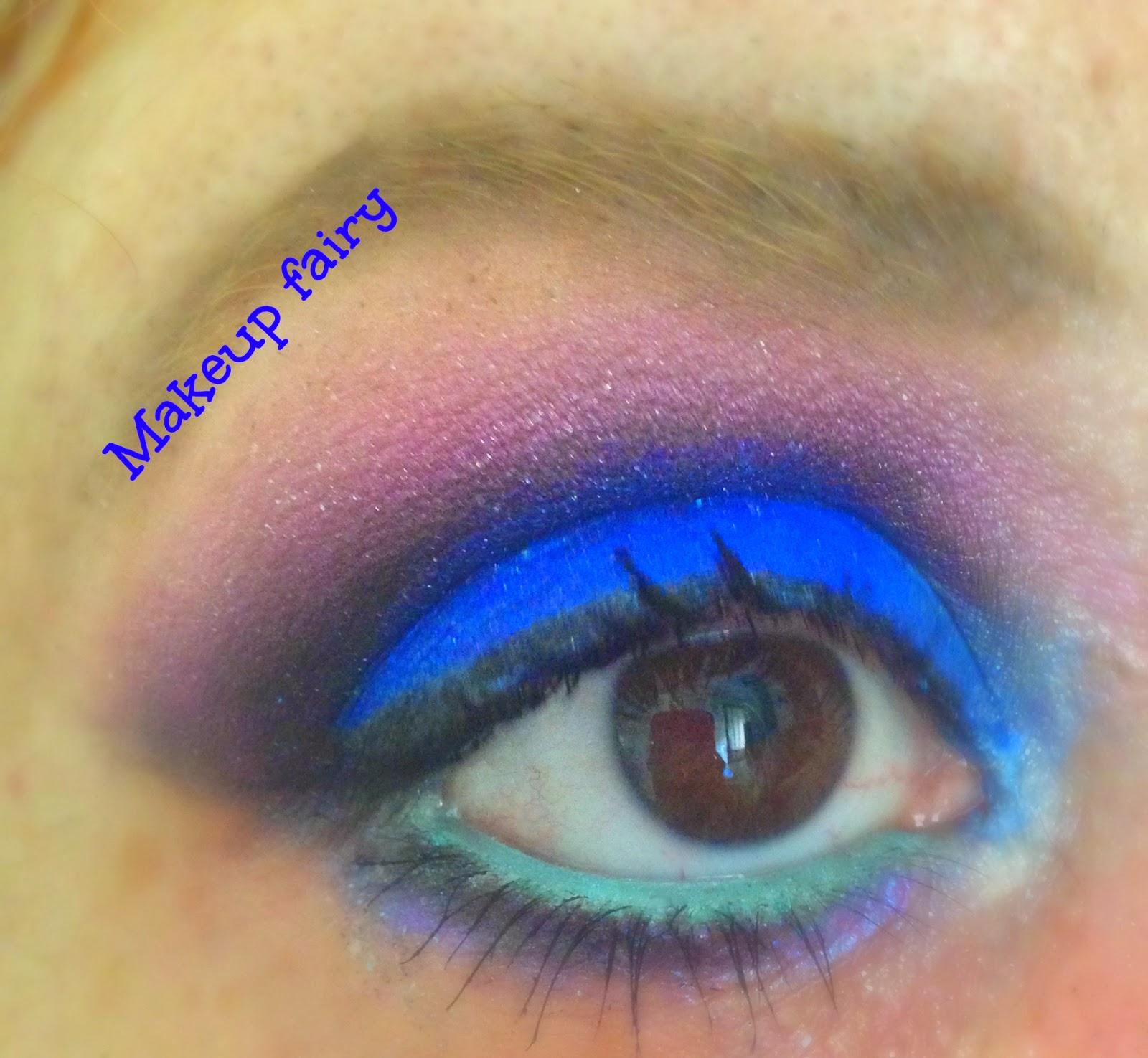 Royal blue eye makeup