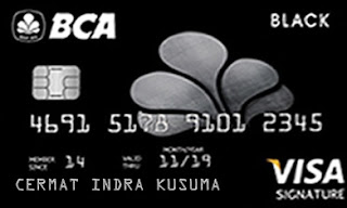 Design Kartu Kredit BCA Visa Black