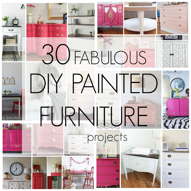 white painted furniture, pink painted furniture, coral painted furniture, diy painted furniture, furniture projects