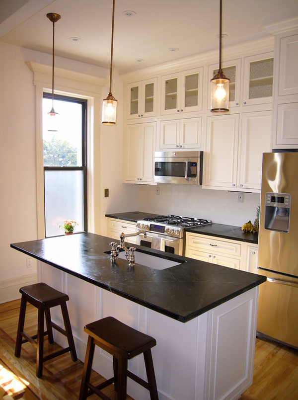 Acertar con la elecci n de una encimera de piedra en la for Tabla de la barra de la cocina de separacion