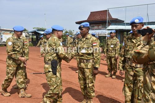 21 Prajurit TNI Konga XX-N/Monusco Naik Pangkat di Kongo