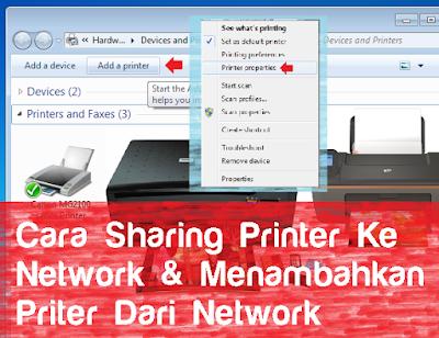 Sharing Printer dan Menambahkan printer melalui jaringan network