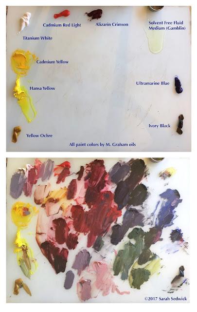 oil paint palette sarah sedwick