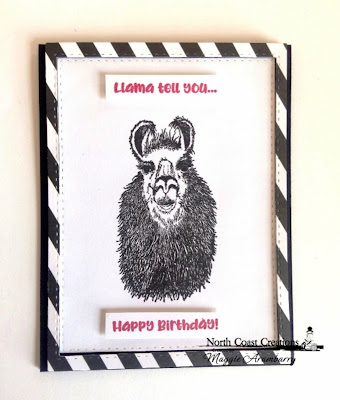 North Coast Creations Stamp Set: Llama Tell You ODBD Custom Dies: Double Stitched Rectangles