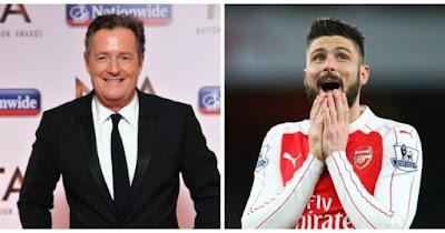 Piers Morgan:Jika Giroud Cetak Gol Lawan Barcelona, Saya Akan Telanjang di Emirates