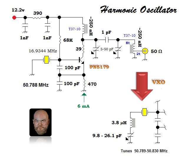 A harmonic fixed xtal oscillator come VXO