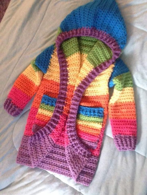 12 Month Infant Hoodie - Free Crochet Pattern