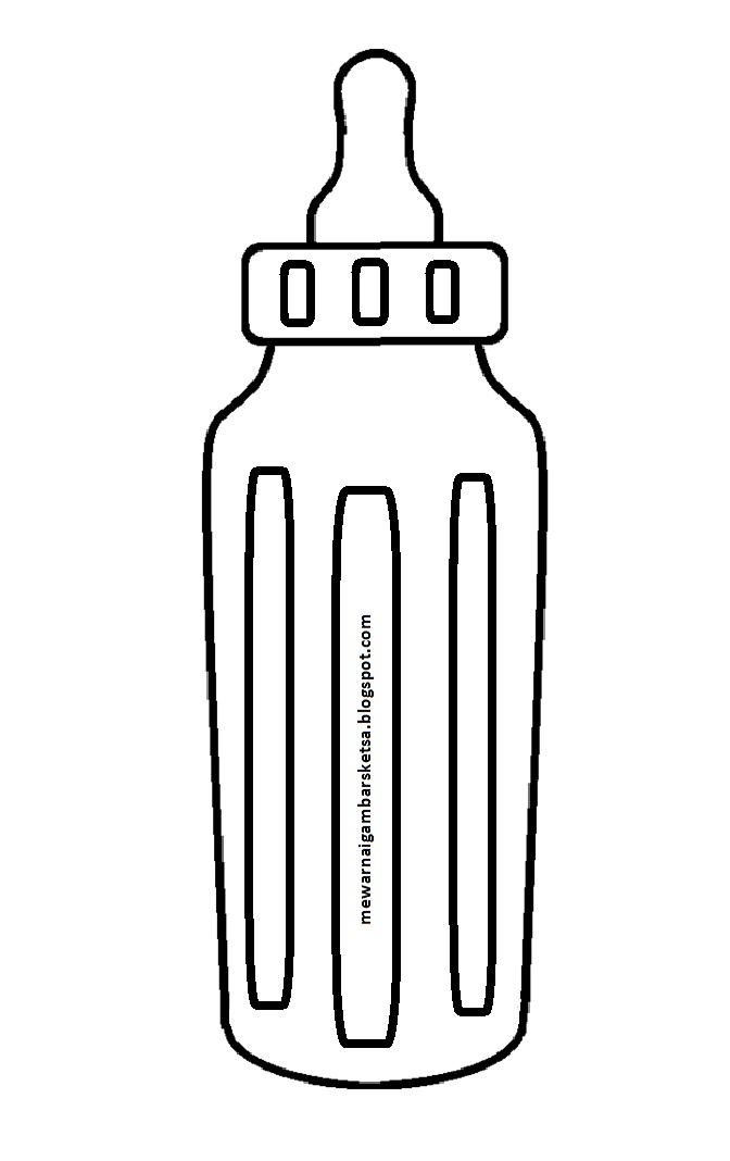 Mewarnai Gambar Botol : mewarnai, gambar, botol, Mewarnai, Gambar:, Gambar, Sketsa, Botol