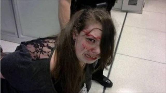 فتاة ضربها الأمن ضرباً مبرحاً... ليكتشفوا المفاجأة بعد ذلك! في المطار تركها اخوها لفترة من الوقت وعاد ليجدها بهذا الشكل !
