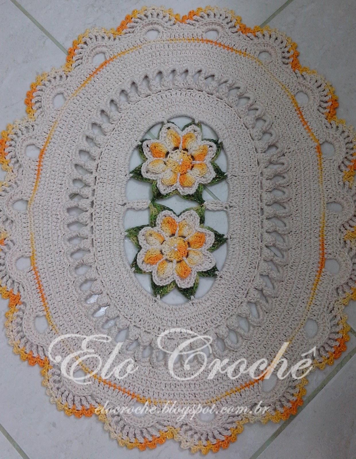 Elo Crochê by Eloiza Castro: JOGO DE BANHEIRO DE CROCHÊ LUXO #A0662B 1240 1600