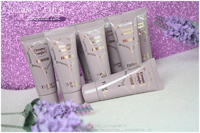 creamy confort foundation Fondotinta Neve Cosmetics recensione