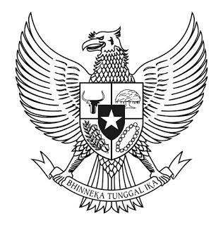 Gambar Logo Garuda Pancasila hitam Putih