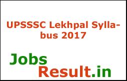 UPSSSC Lekhpal Syllabus 2017