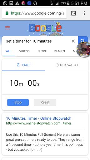 10 minute timer online
