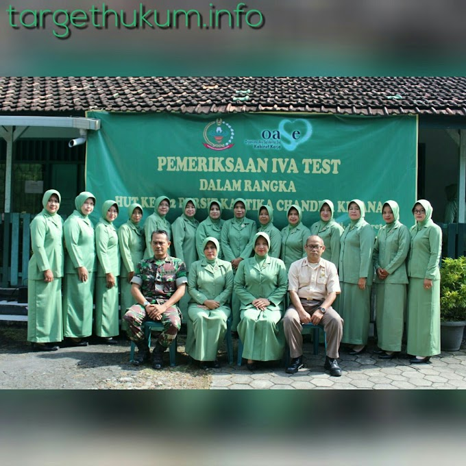 Pencegahan Dini Seorang Istri TNI AD Dalam Pemeriksaan IVA Serentak di HUT Persit 2018