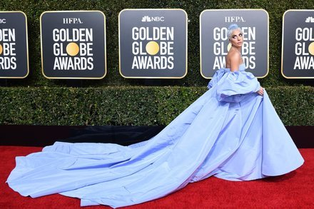 Lady Gaga graces Golden Globe Awards with her stunning All Purple Appearance