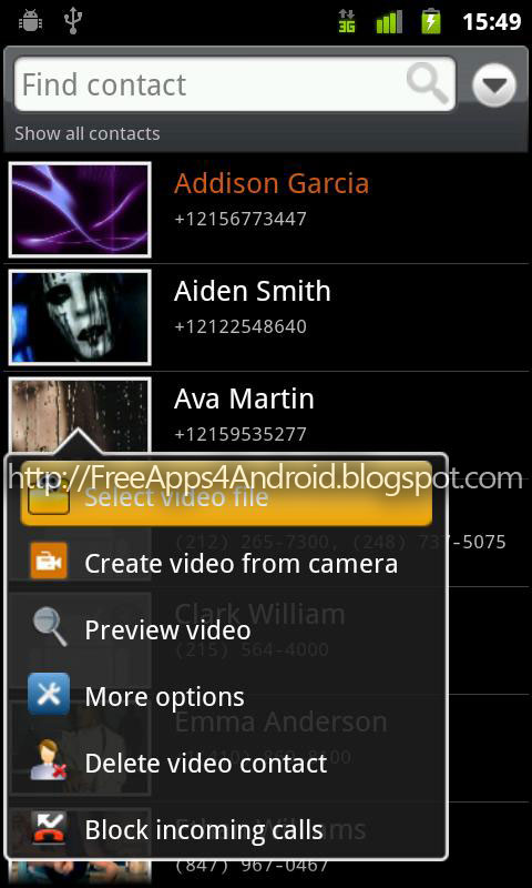 video ringtone application for android