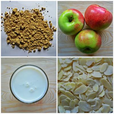 Puszyste ciasto z jabłkami - składniki