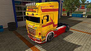 DHL paint job for Scania RJL