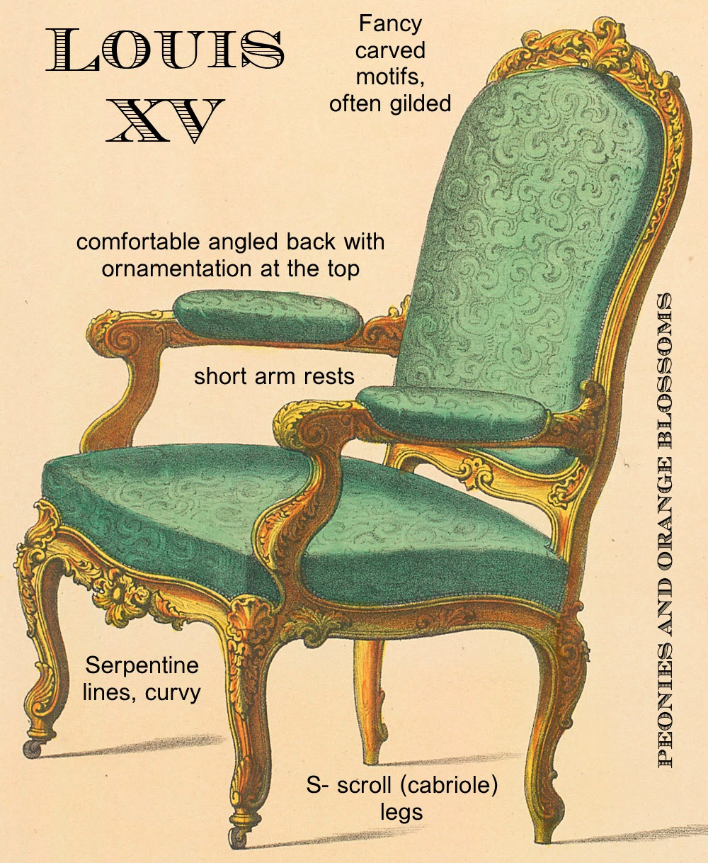 Peonies and orange blossoms ultimate guide french chairs for French baroque characteristics