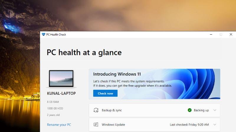 Microsoft takes down the PC Health Check tool