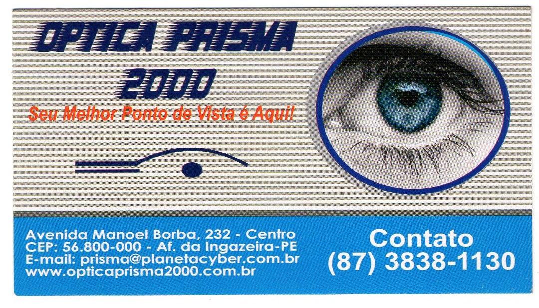 a084b51044c62 A ótica prisma 2000 estará realizando exame de vista no próximo dia 16 de  março, a partir das 7 00 horas da manhã, Na avenida MANOEL BORBA, N° 232-  CENTRO, ...
