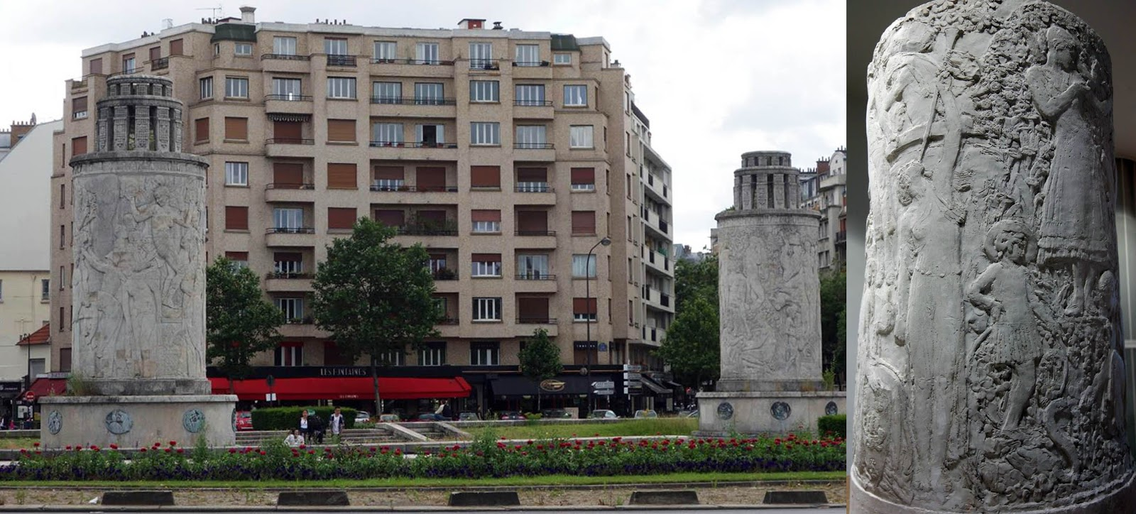 Annie and Rich s Travel Adventures  Paris 2016   16th Arr    Art     We started our tour at the square adjacent to the Porte de Saint Cloud metro  station  where we passed by two 10 metre high fountains by Polish French