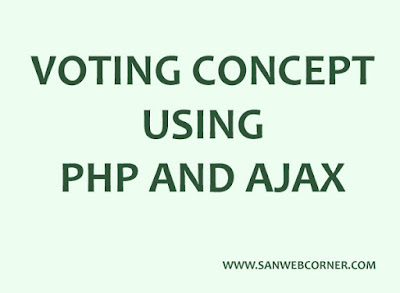 Voting concept using php and ajax