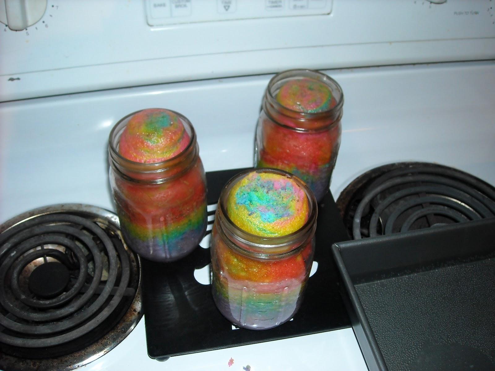 Resep Cake In Jar Rainbow: Cake Baby Creations: Rainbow Cake In A Jar