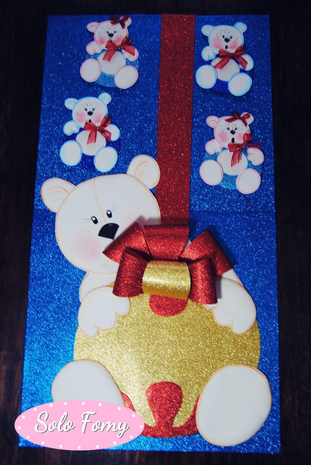 Solo fomy decoracion navide a para puertas for Puertas decoradas de navidad para preescolar