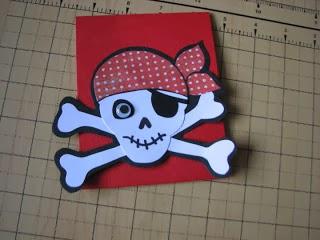 sobre de invitacion pirata