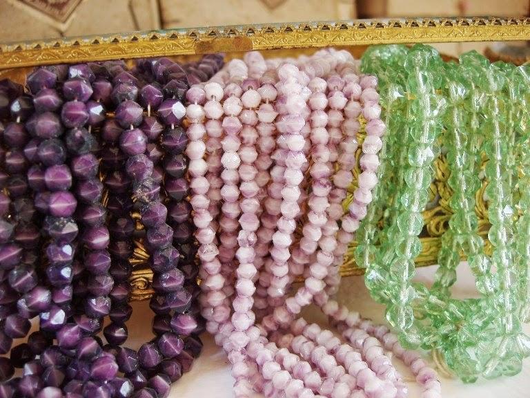 Vintage ja antiiksed helmed perles ancienne de verre alt perlen glas