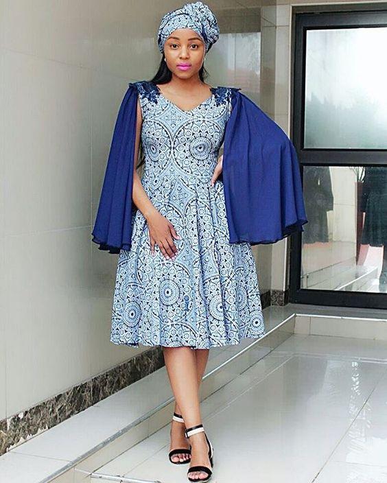 SHWESHWE Kitenge Mix Dresses 2018-2019