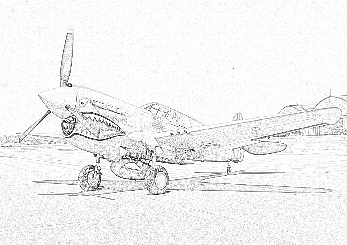 World War II in Pictures: Fighter Coloring Pages World War II