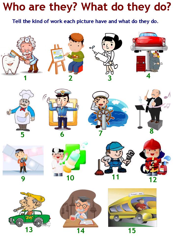 People Occupations Jobs And Community At: Joyful English For Kids: It's Time To Learn Jobs