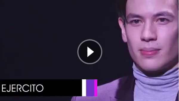Jake Ejercito takes the runway at a fashion event