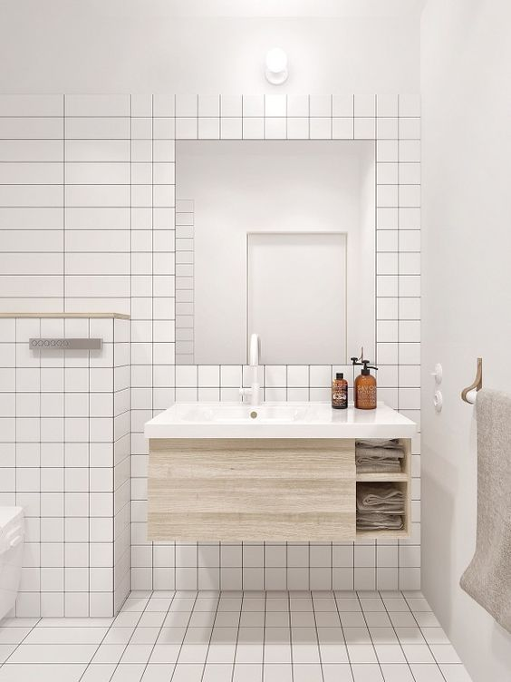 Using Square Tiles In The Bathroom